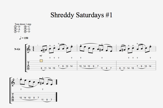 Shreddy Saturdays 1