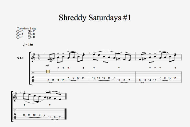 Shreddy Saturdays 1