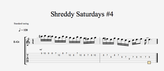 Shreddy Saturdays 4