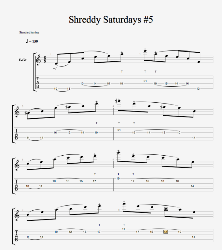 Shreddy Saturdays 5