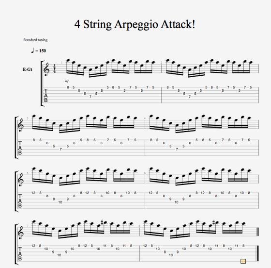4 String Arpeggio Attack!